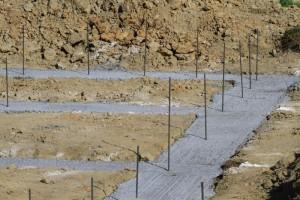 betonáž základových rýh